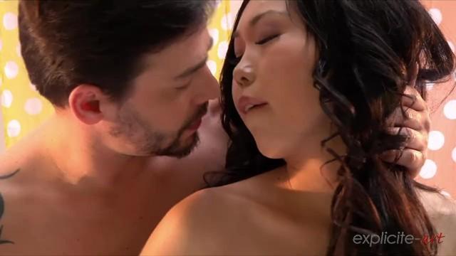 Sexy Asian slut Nicoline Yiki gets ass fucked wearing black stockings