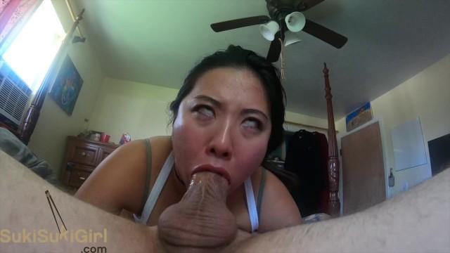 SLOPPY upside down Blowjob from Asian goddess @sukisukigirlReal