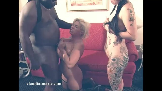Big Titty Claudia Marie Hired To Fuck A Black Guy And Asian Girlfriend