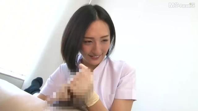 Japanese Dentist gloved handjob 1