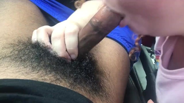 White BBW give mean sloppy head to black dick