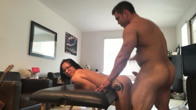 Muscle Couple Fuck on Massage Table
