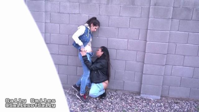 Hot Lesbian Girlfriends Caught On Outdoor Cam by Stalker Voyeur