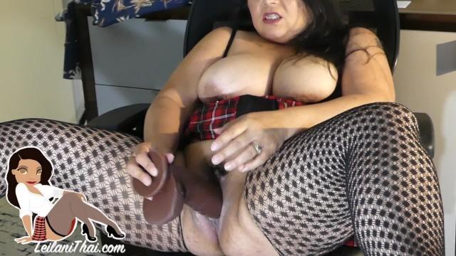 Amateur Asian slut BBW MILF fucks her creamy pussy to a huge orgasm