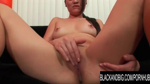 Black and Big - Asian Teen Ruby Luxe Takes a BBCs Seed in POV
