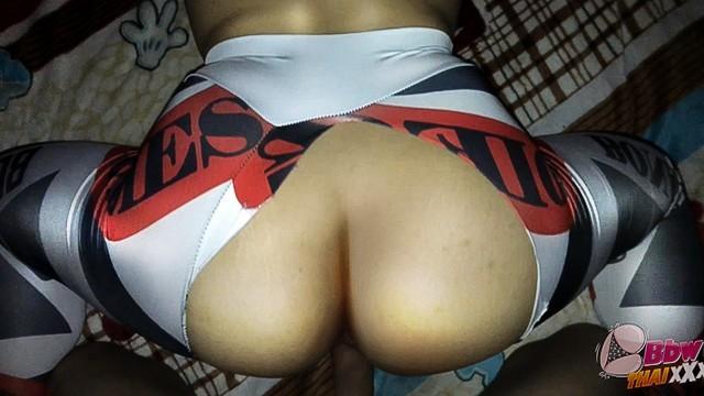 Thai BBW wife fucked DOGGY 4 (Yoga pants Hot!)
